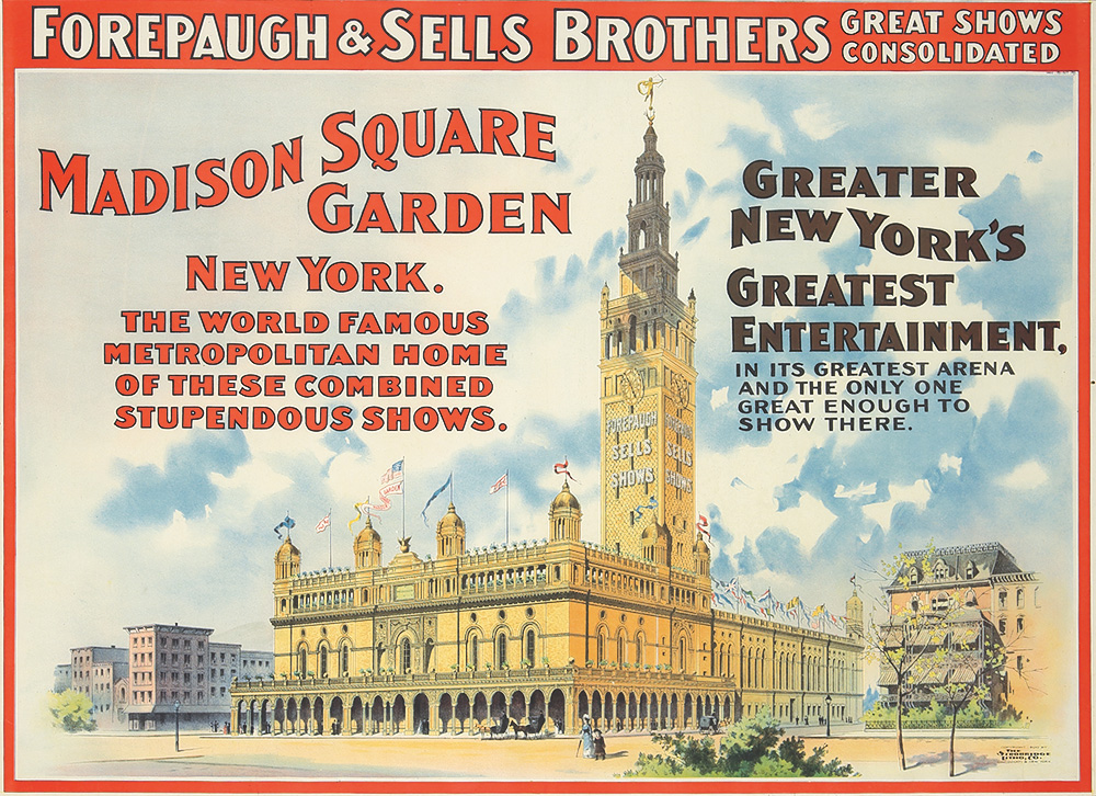 101. Forepaugh & Sells Brothers / Madison Square Garden. 1900.