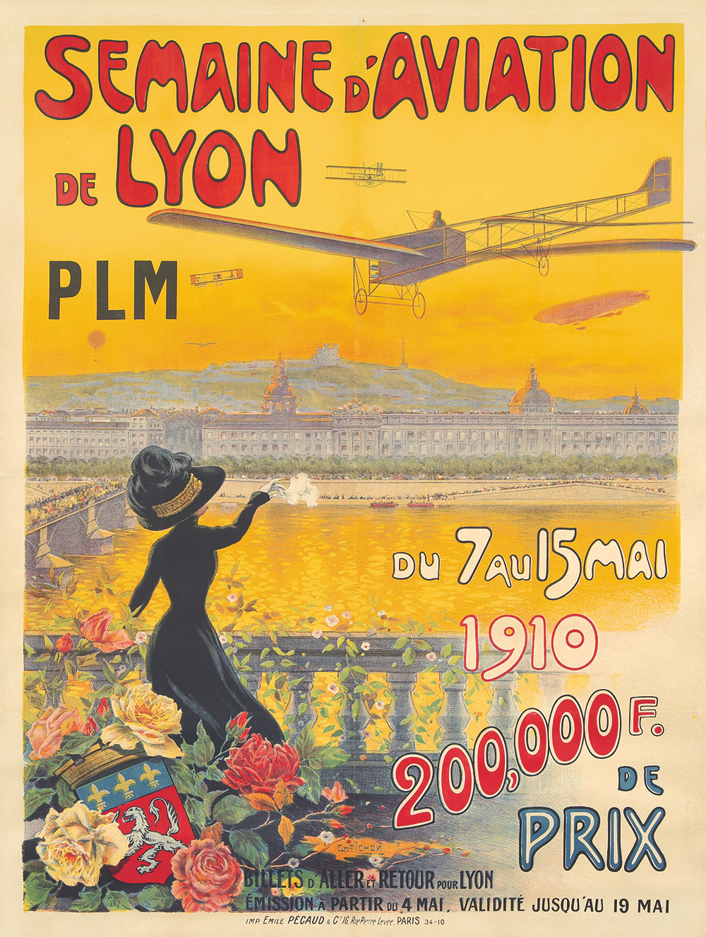 71. Semaine d'Aviation de Lyon. 1910.