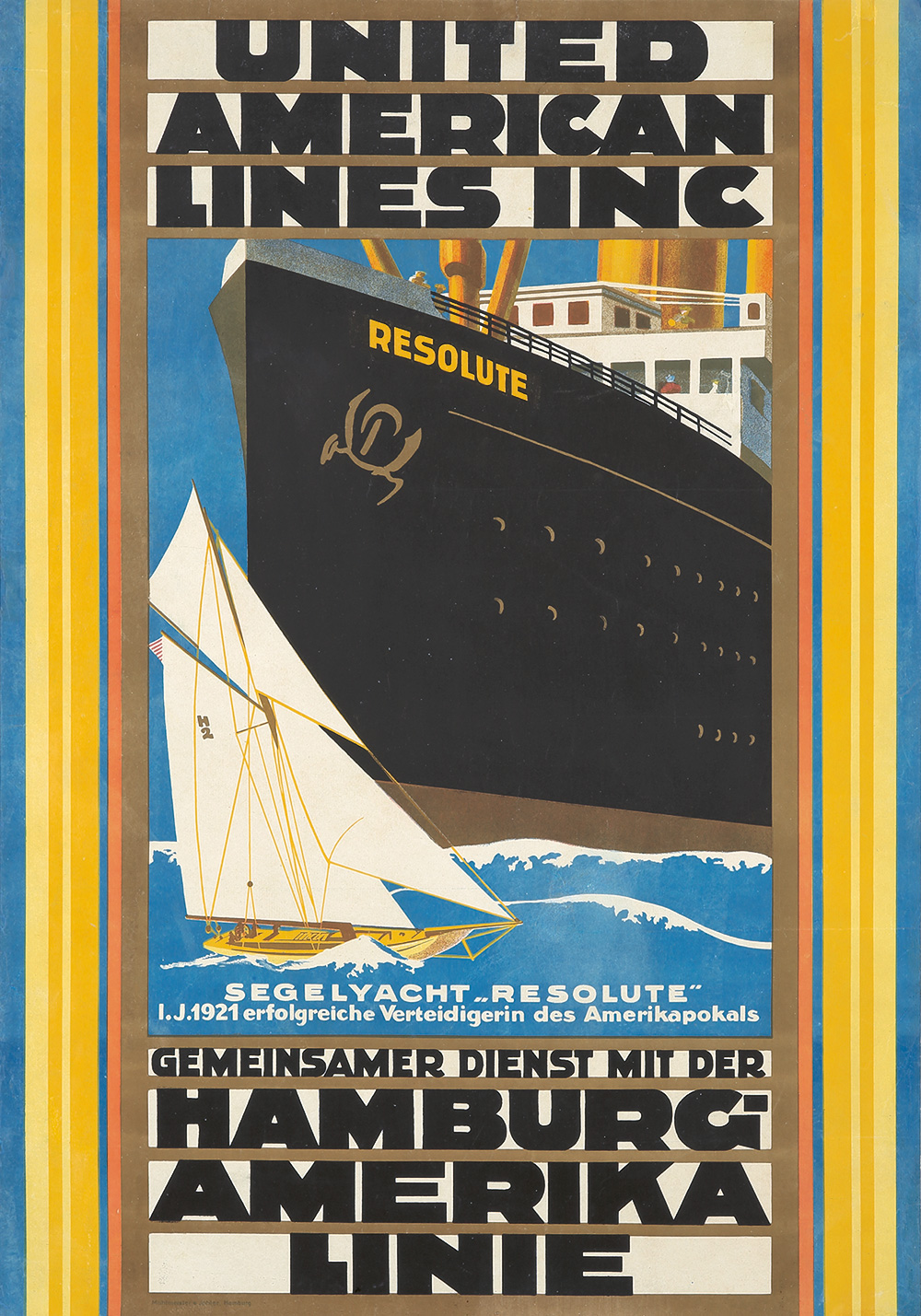 108. United American Lines. ca. 1922.