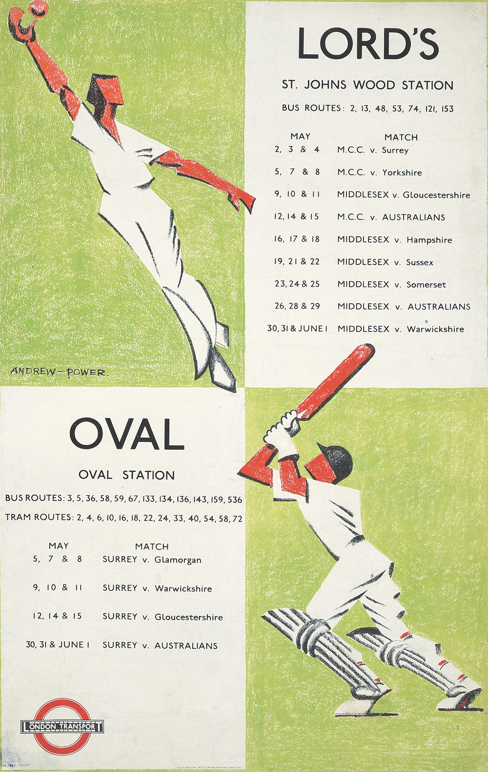 129. Lord's/Oval. 1934.