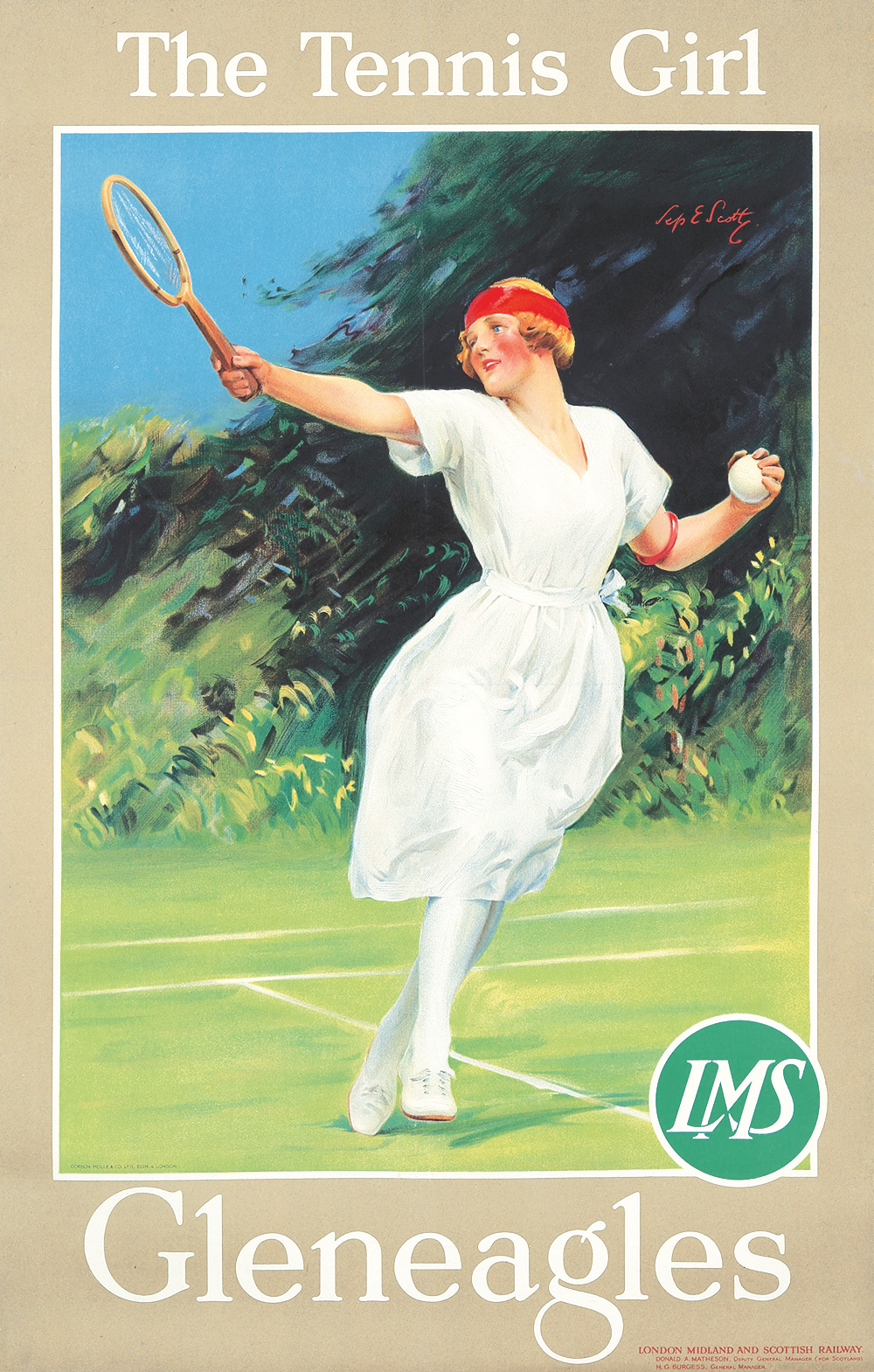 354. Gleneagles / The Tennis Girl.