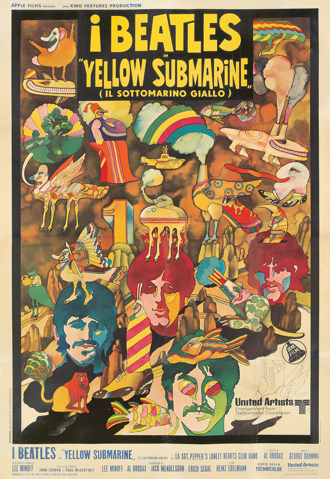 123. Beatles / Yellow Submarine. 1969. ($2,880)