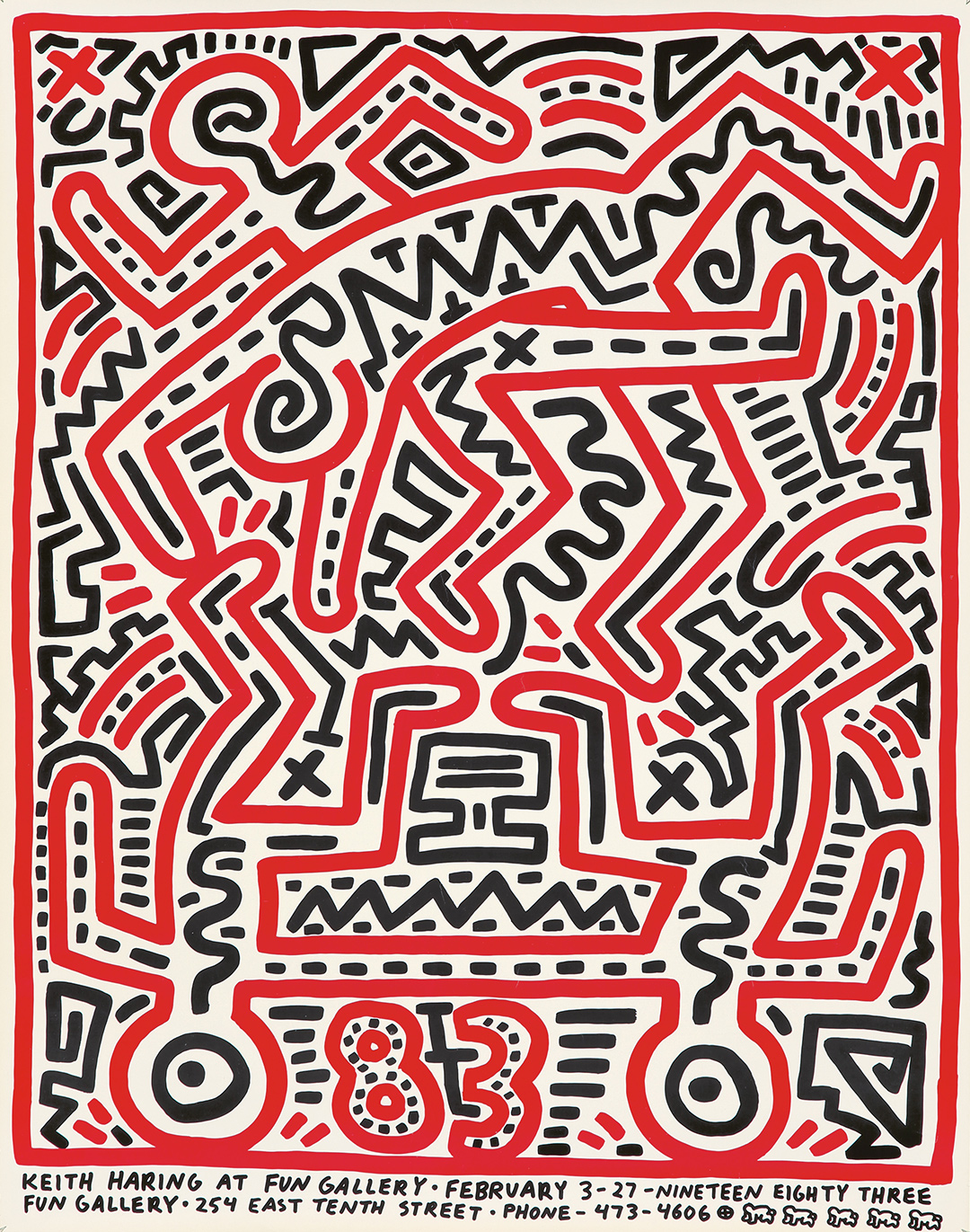 243. Keith Haring At FUN Gallery. 1983. ($1,920)