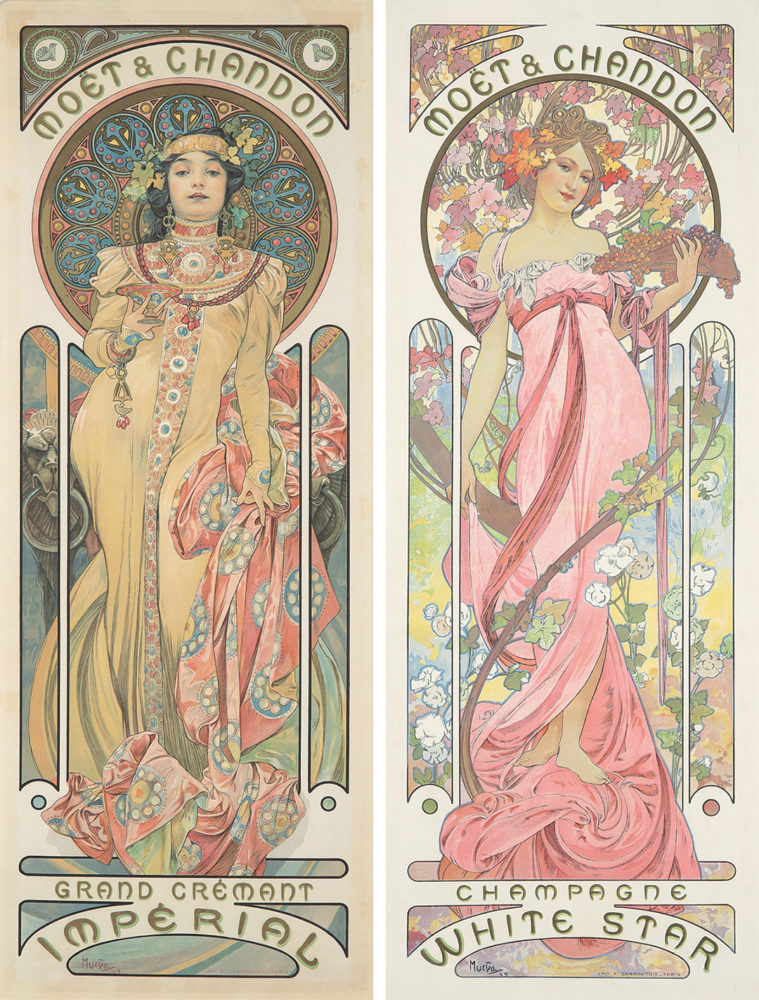 304. Moet & Chandon. Alphonse Mucha, 1899. Sold For $38,400