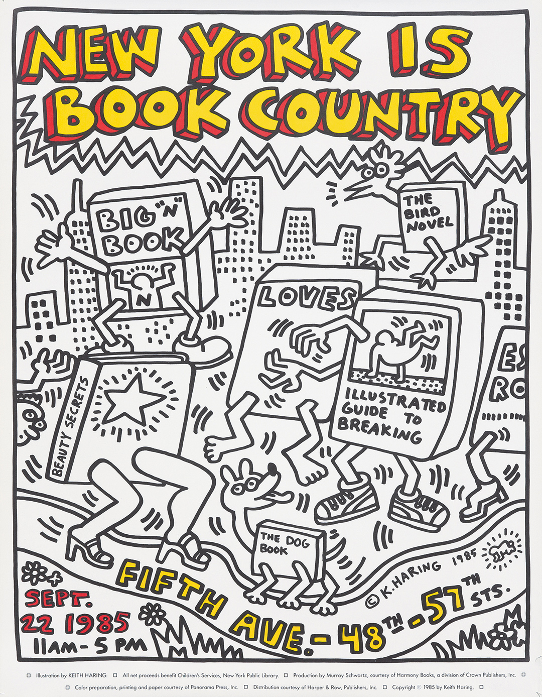318. Haring's 1985 New York Is Book Country. ($1,920)