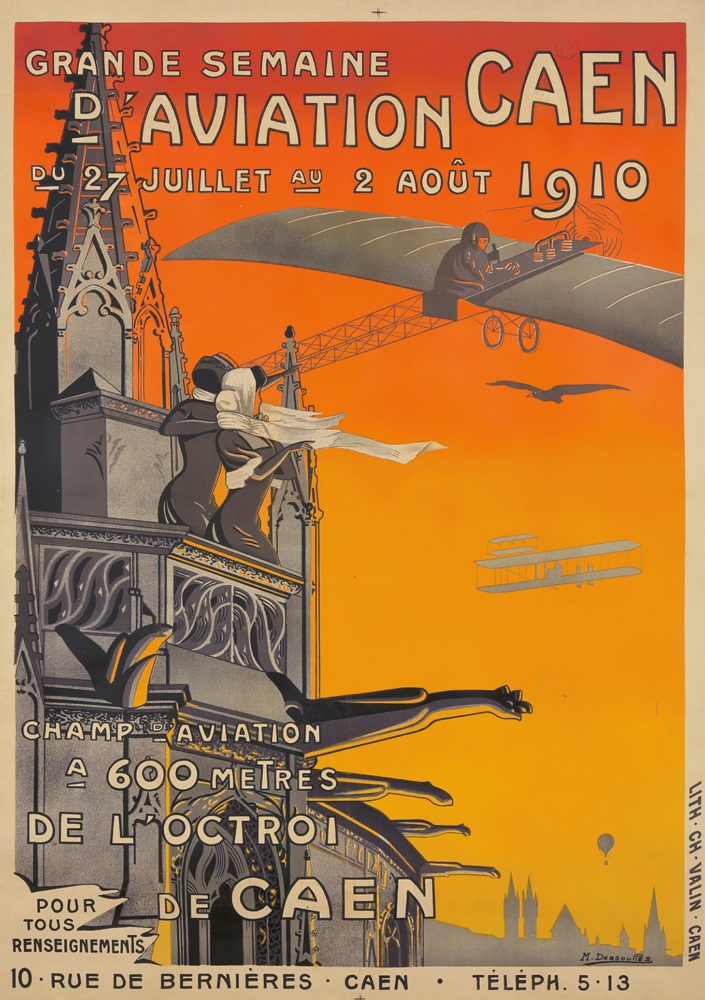 34. Semaine D'Aviation. M. Dessoures, 1910. Sold For $9,600