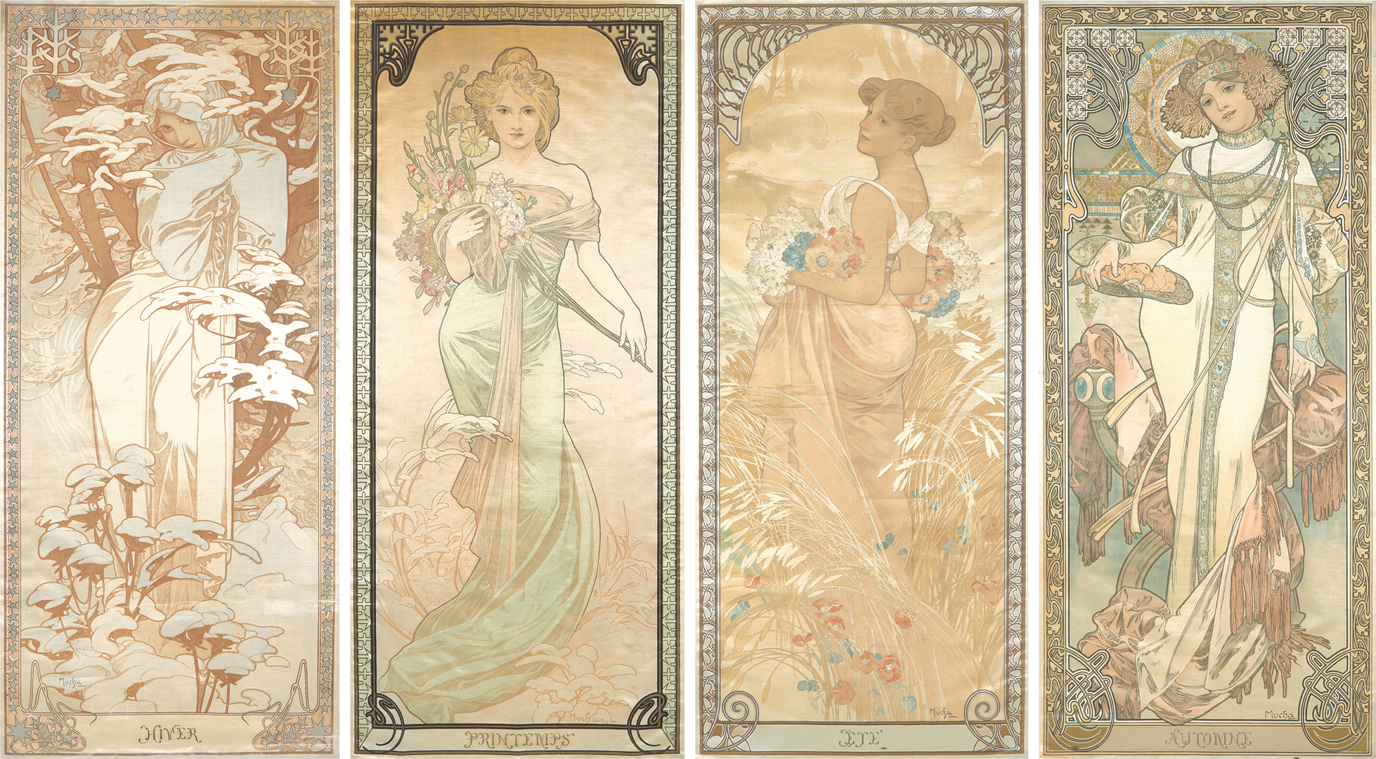 359. The Seasons 1900 – On Silk. ($57,600)