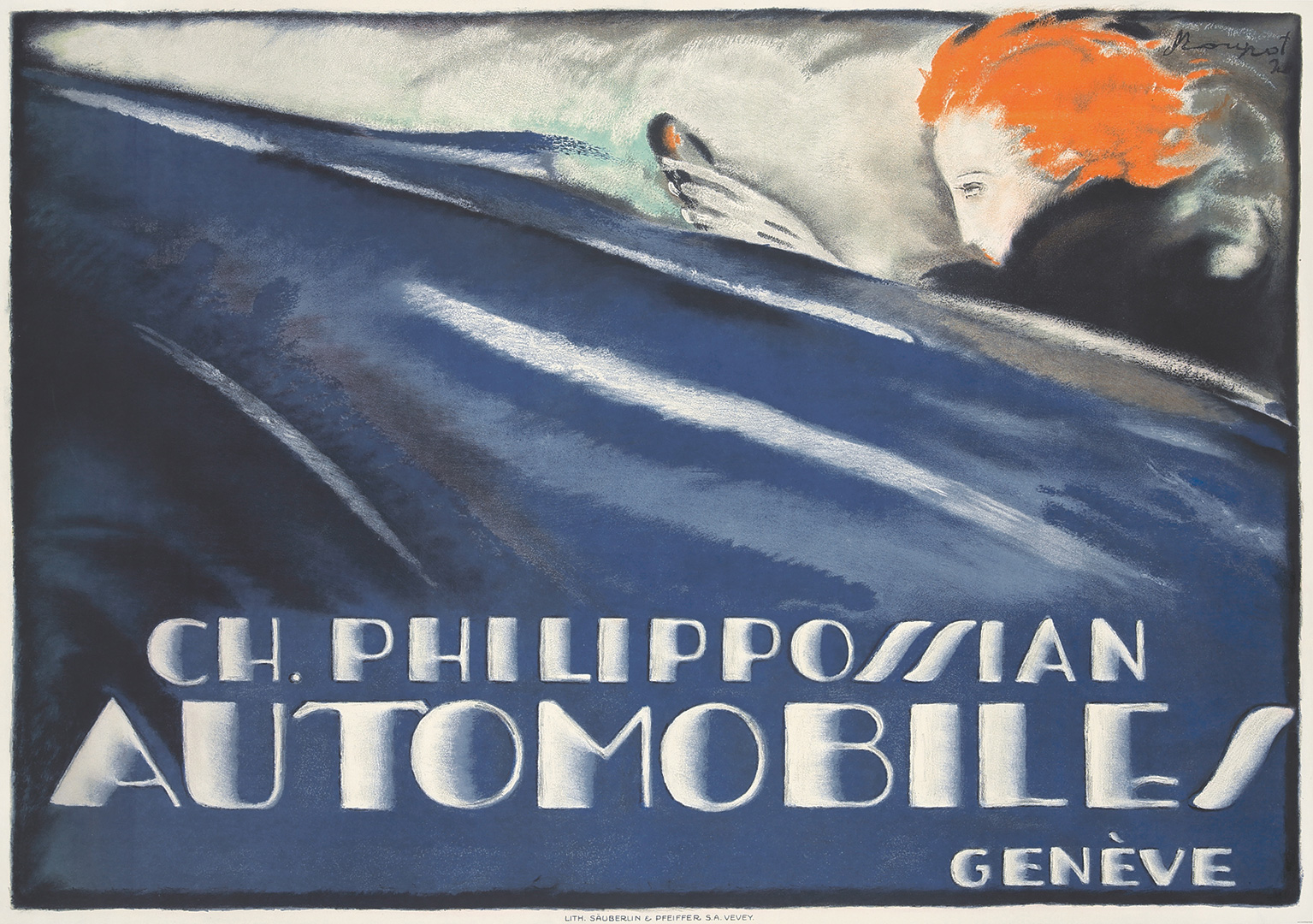 Charles Loupot's 1920 Philippossian Automobiles. ($114,000)