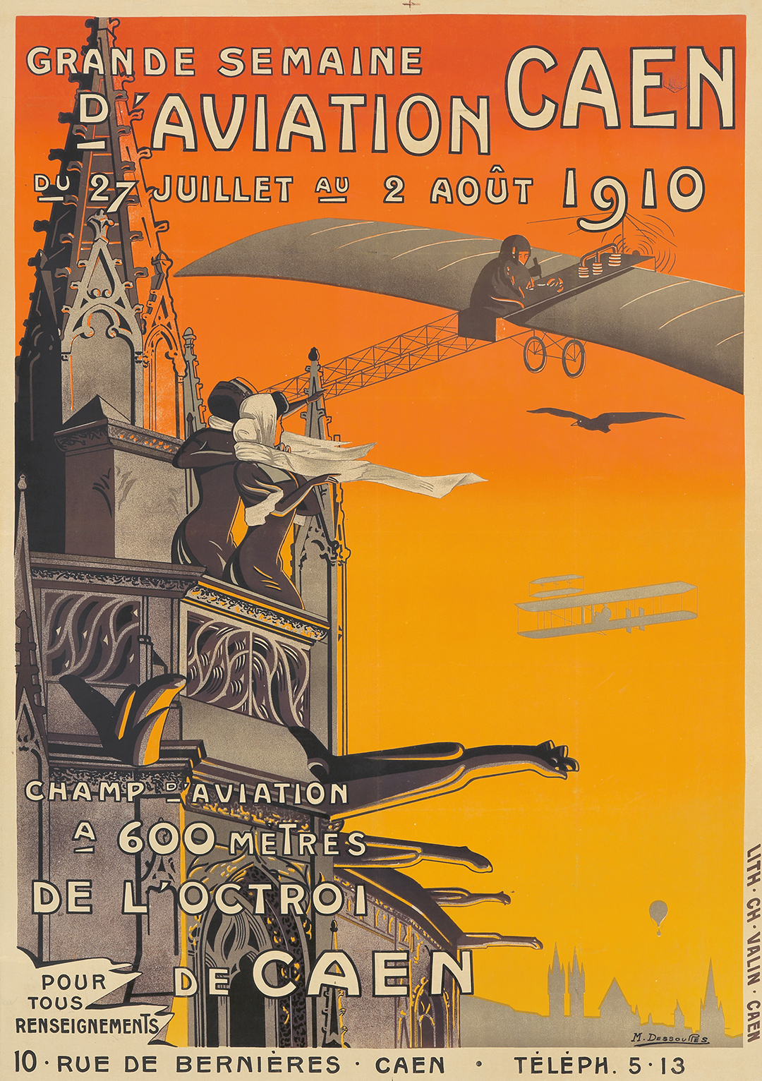37. Semaine D'Aviation / Caen. 1910. ($8,400)