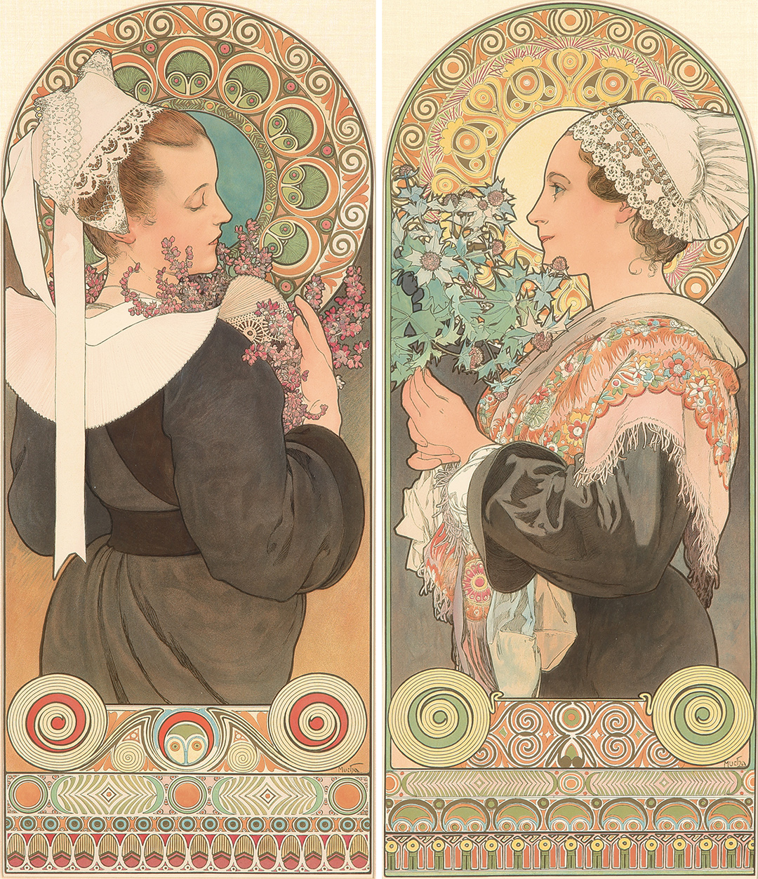 377. Mucha's 1902 Heather & Sea Holly. ($19,200)