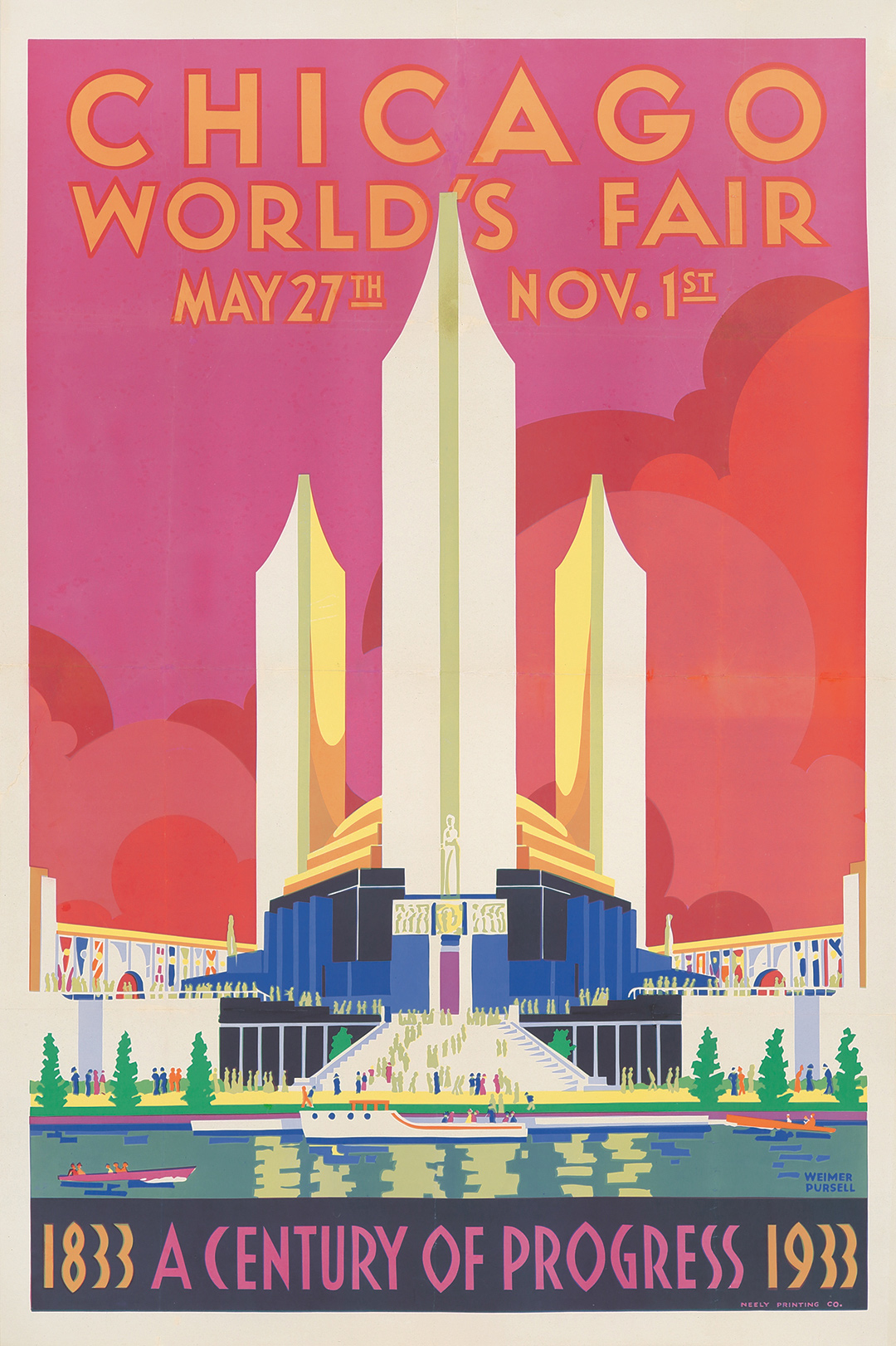 425. Pursell's 1933 Chicago World's Fair. ($1,680)