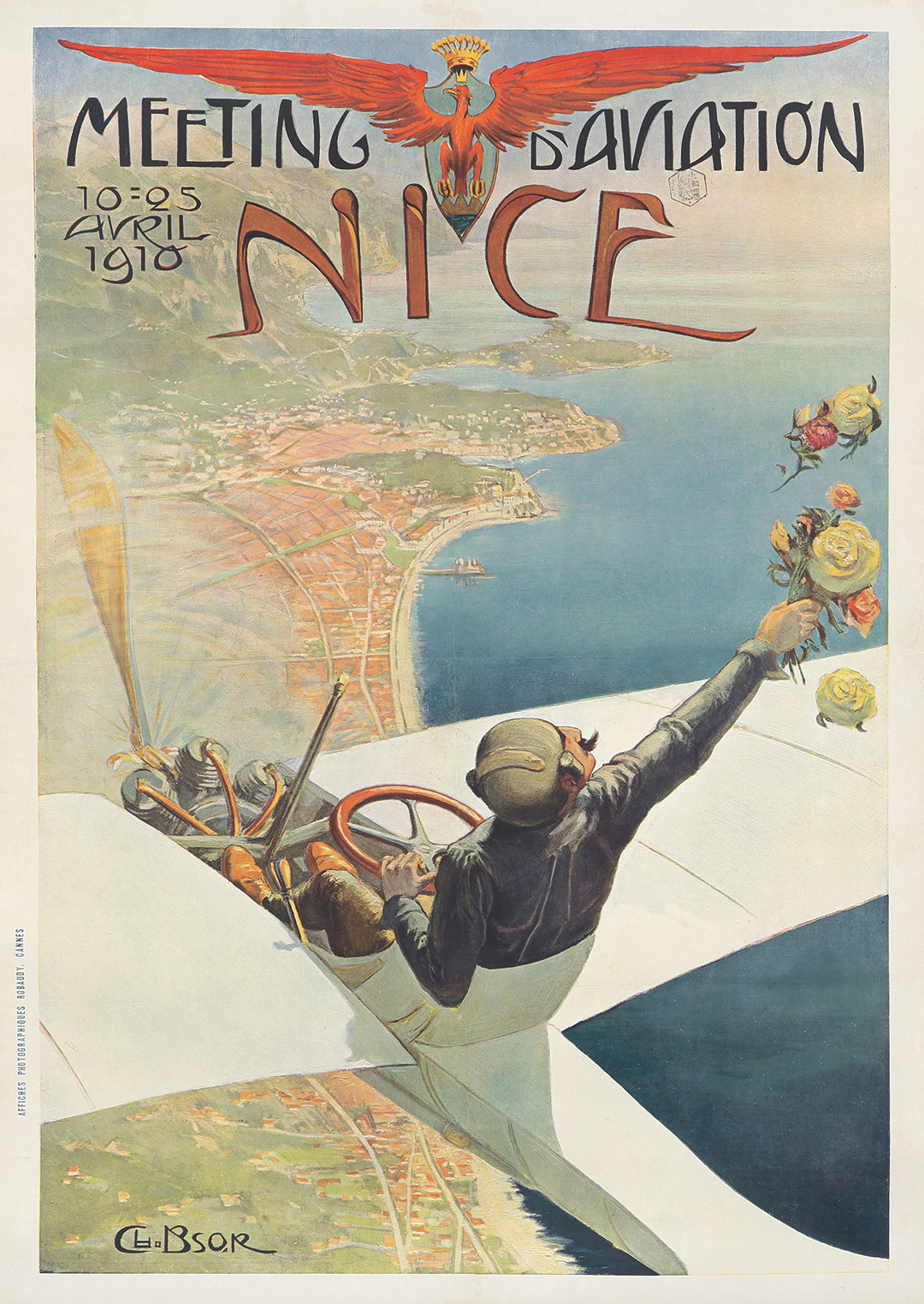 79. Brossé's 1910 Meeting D'Aviation / Nice. ($16,800)