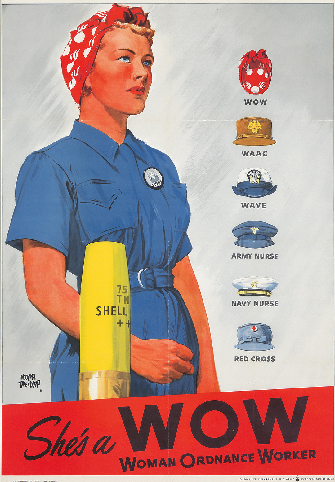 93. She's A WOW / Woman Ordnance Worker. 1942. ($2,400)