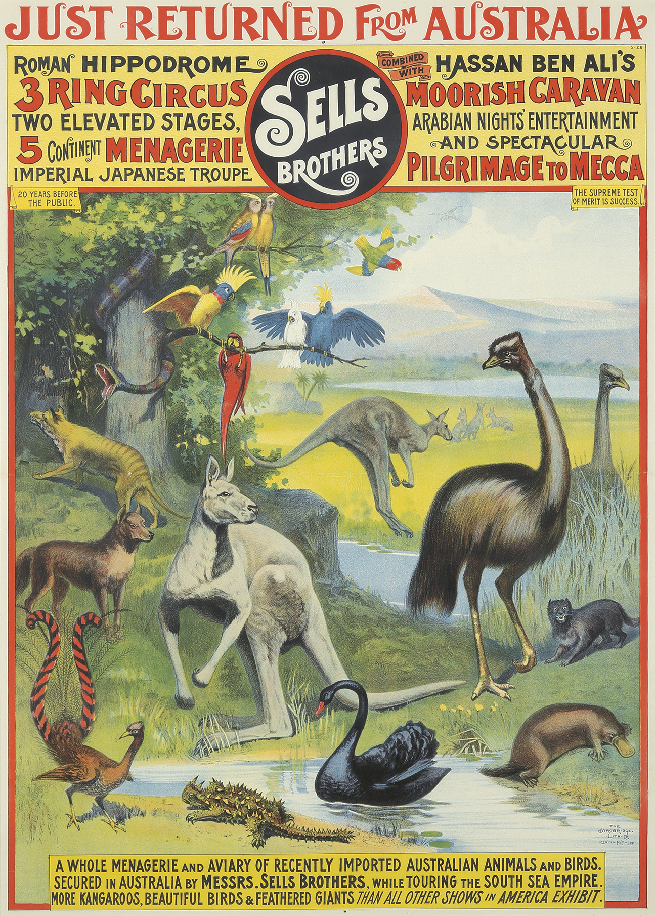 17. Sells Brothers / Whole Australian Menagerie. ca. 1892.