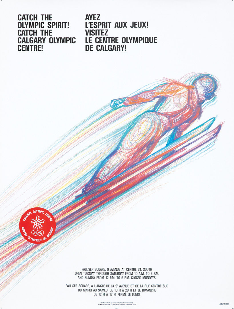 Catch the Spirt! Catch the Calgary Olympic Centre! 1979.