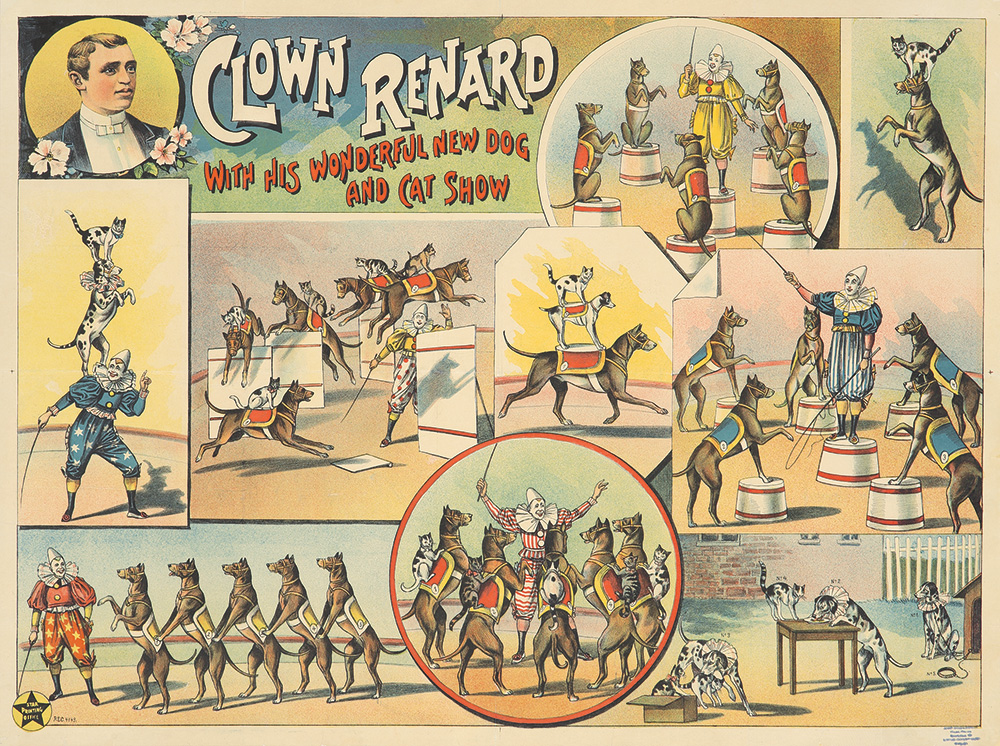121. Clown Renard / New Dog & Cat Show. Ca. 1896.