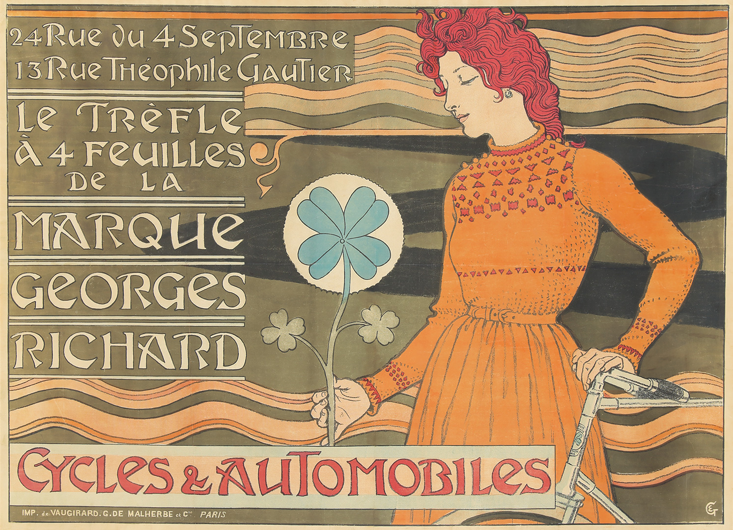 26. Marque Georges Richard / Cycles & Automobiles. 1899.
