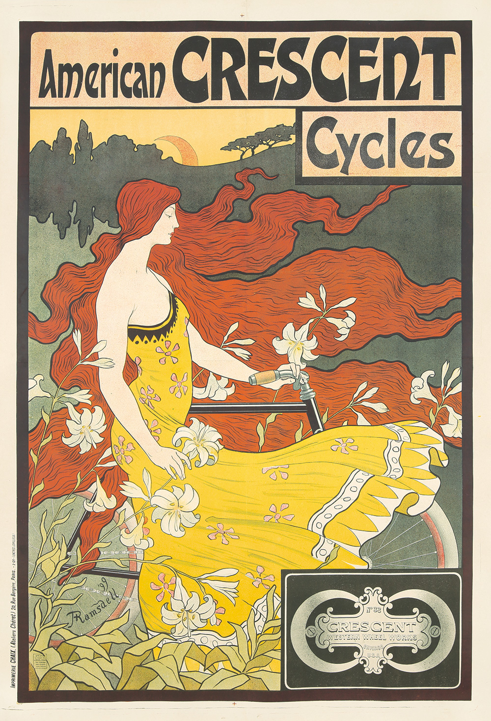 9. American Crescent Cycles. 1899.