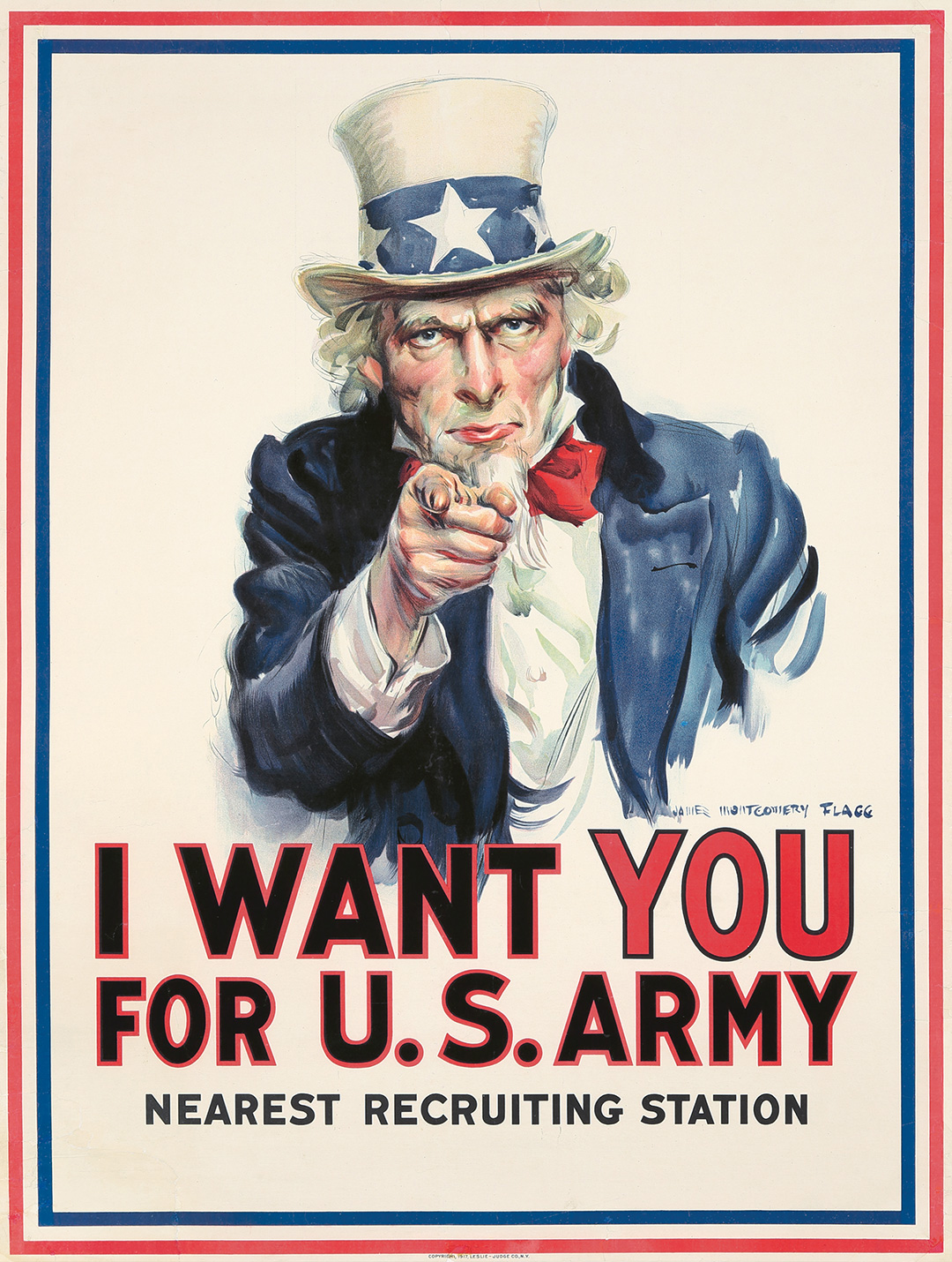 90. I Want You For U.S. Army. 1917. ($9,600)