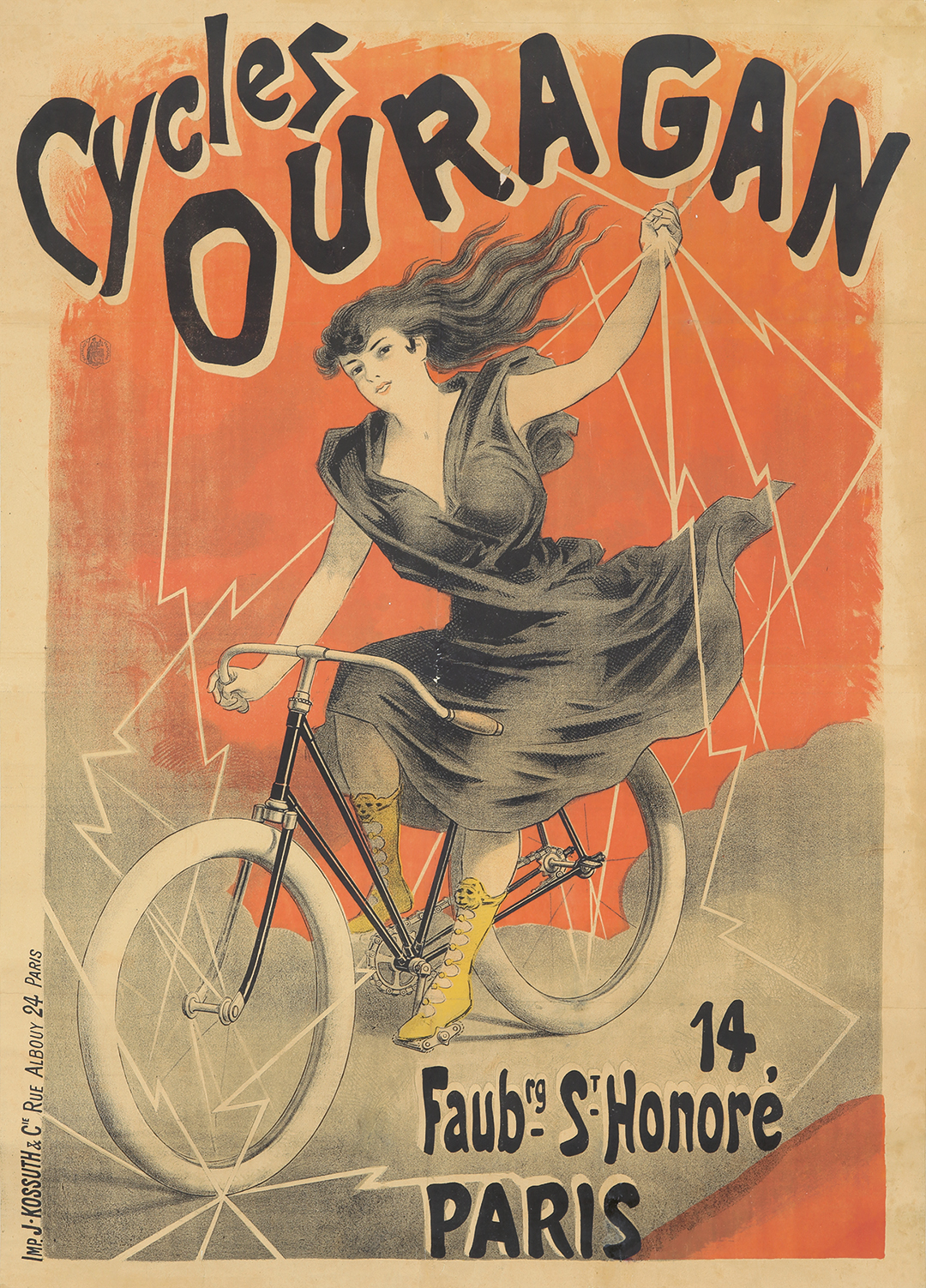 17. Cycles Ouragan. ca. 1895.