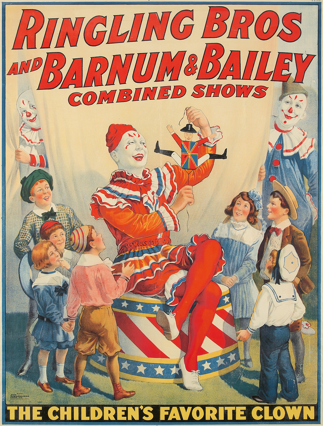 6. Ringling Bros. and Barnum & Bailey/The Children's Favorite Clown. 1920.