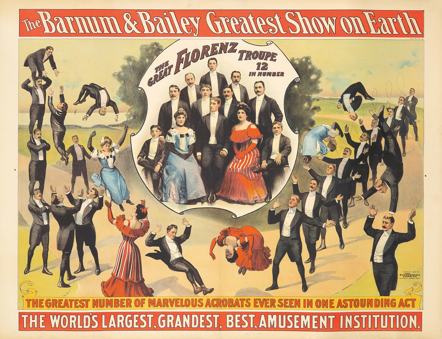 25. Barnum & Bailey / Great Florenz Troupe. 1904.