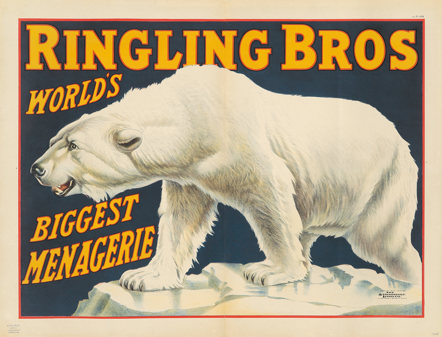 27. Ringling Brothers / Biggest Menagerie. 1913.