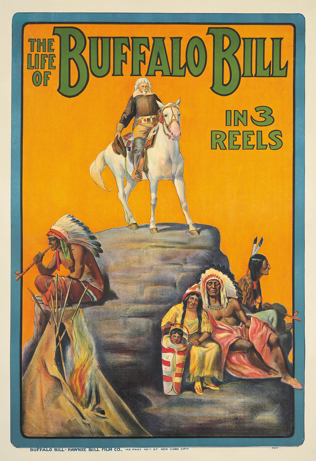 412. The Life of Buffalo Bill in 3 Reels. 1912.