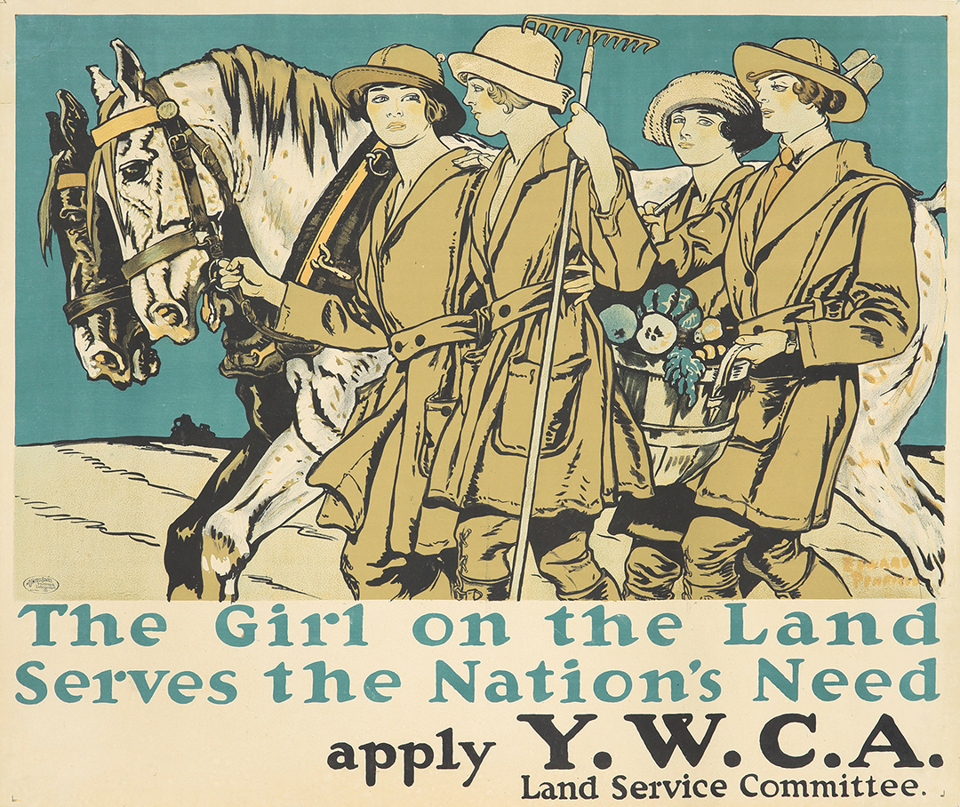 334. The Girl on the Land / Y.W.C.A. ca. 1918.