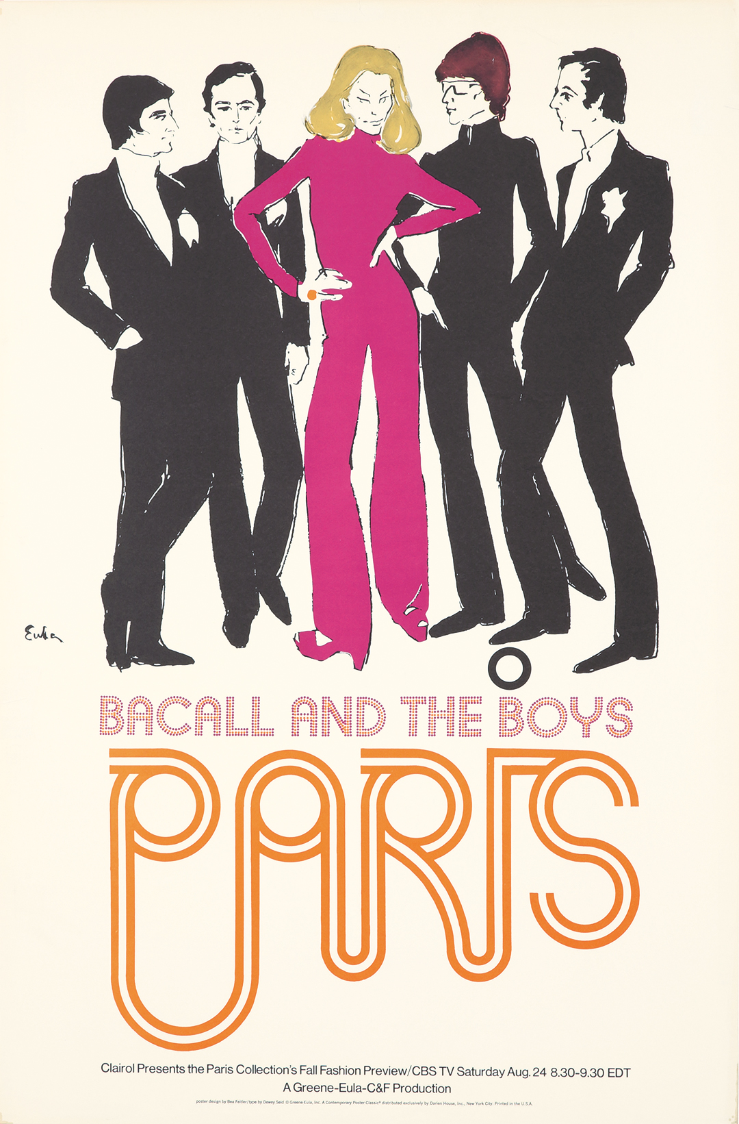 Bacall and the Boys / Paris. 1968.