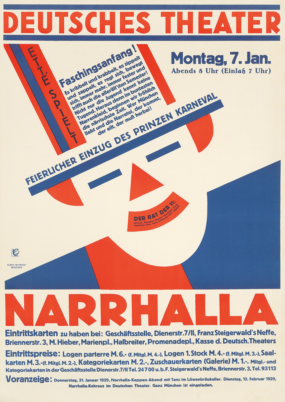 278. Deutsches Theater / Narrhalla. 1929.