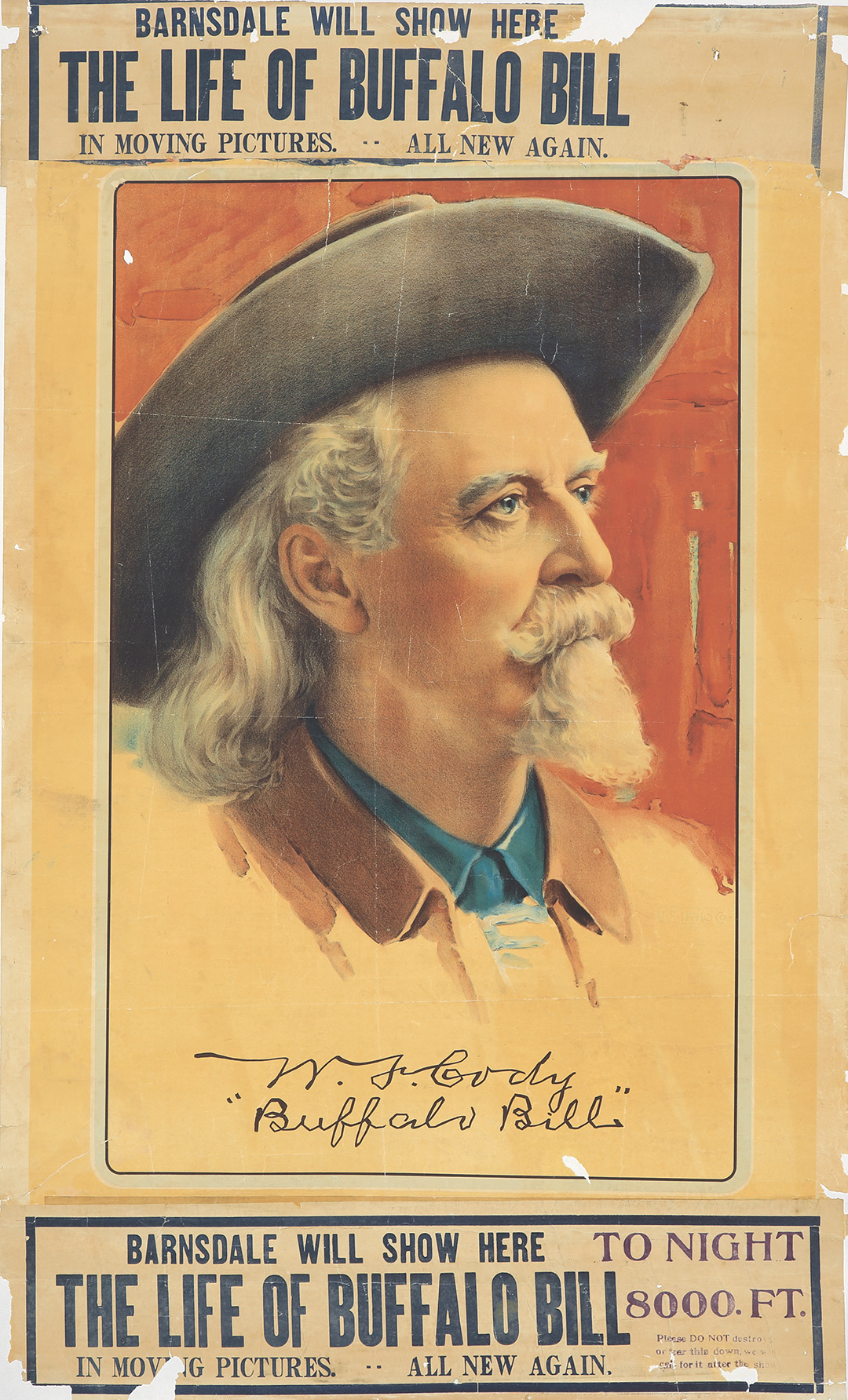 180. The Life of Buffalo Bill / Portrait. 1912.