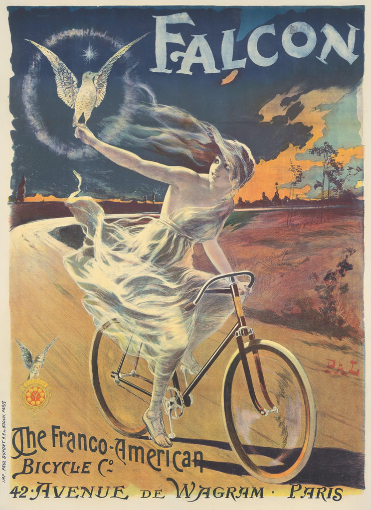 In Pal's bold design, the female cyclist has become a mythical being.